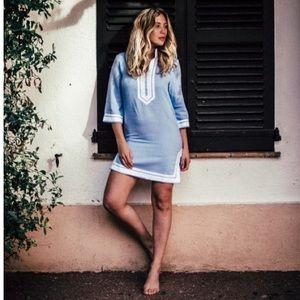 NWT🌴Les Canebiers Sky Blue Summer Tunic Dress